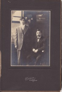 L-R: Ichimaru and Sasanji Okazaki, San Francisco, circa 1912