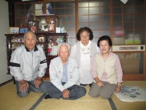 Motomu, Satoshi, Mitsuko and Shizuko