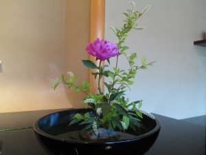 Ikebana at Hiiragiya