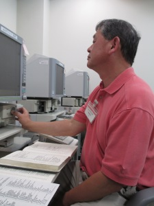 At the Microfilm Reader