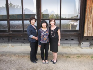 Setsuko, Hiroko and Linda in Front of the Home Built by Namita