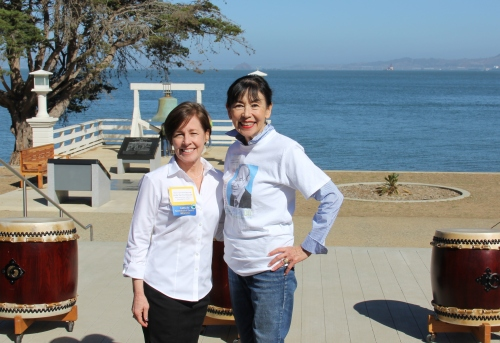 Linda Harms Okazaki and Karen Korematsu